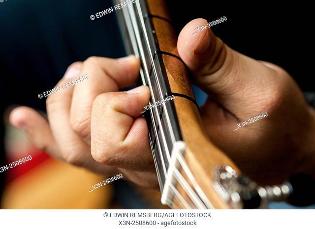Man playing Greek Lute