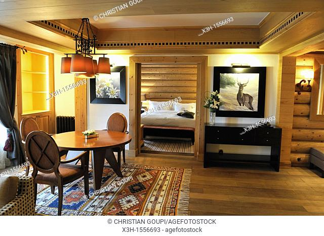 suite of the Michlifen luxury hotel, Ifrane, Middle Atlas, Morocco, North Africa