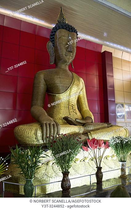 Myanmar (formerly Burma). State Mon. Mawlamyine (Moulmein). Taung Pauk Kyaung Monastery. Bamboo Buddha