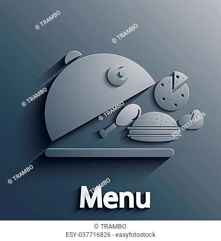 Vector food modern background. Eps10