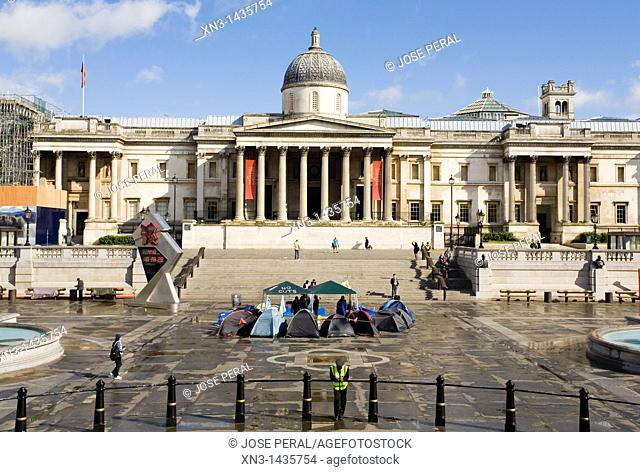 National Gallery, Trafalgar Square, London, England, UK