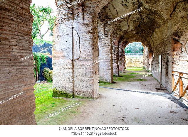 Stadium of Antoninus Pius ruins, Pozzuoli, Italy