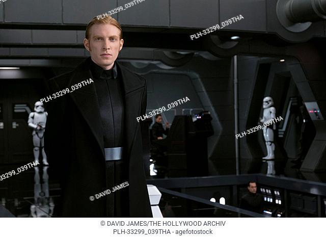 """""""""""""""Star Wars: The Last Jedi"""""""" (2017) General Hux (Domhnall Gleeson) Lucasfilm Ltd"""