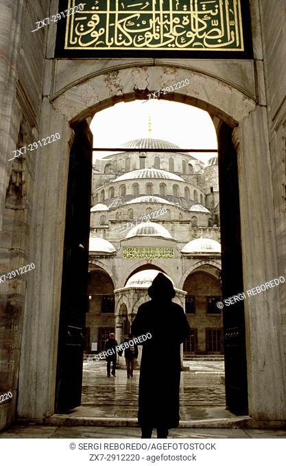 Blue Mosque (Sultan Ahmet Camii) entrance, Istanbul, Turkey