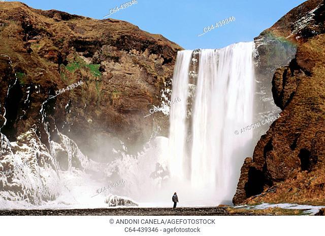 Skogafoss cascade. Iceland