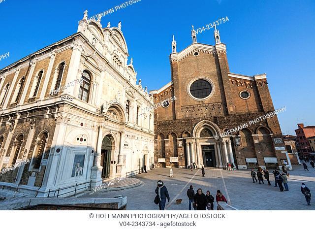 Scuola Grande di San Marco and Basilica di San Giovanni e Paolo in Venice, Italy, Europe