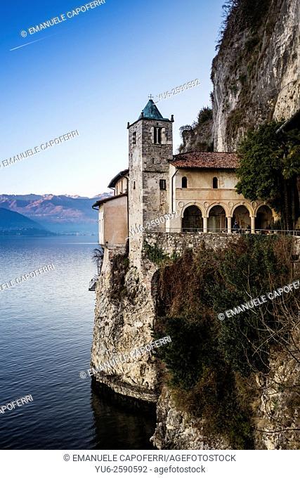 Hermitage of Santa Caterina del Sasso, Lake Maggiore, Italy