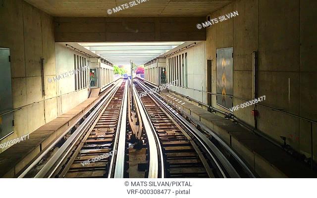Automatic Metro Subway Train in Lausanne, Switzerland