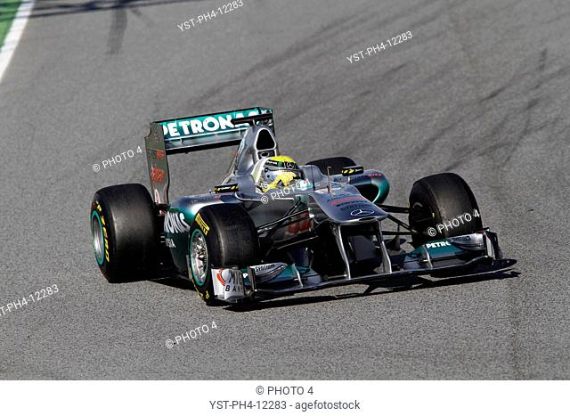 Racing, Nico Rosberg, Testing, Barcelona, Espanha