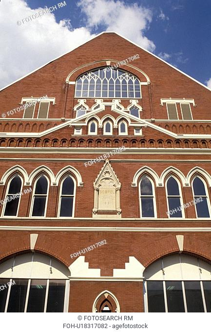 Nashville, Ryman Auditorium, Country music, Tennessee, Ryman Auditorium former home of the Grand Ole Opry in Nashville in the state of Tennessee
