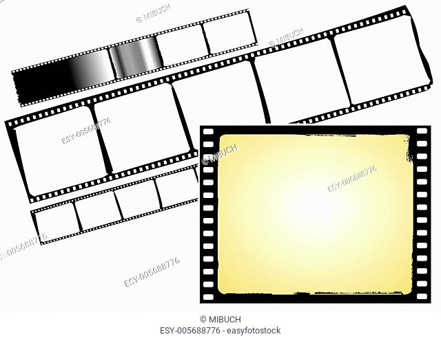film strip and frame - vector