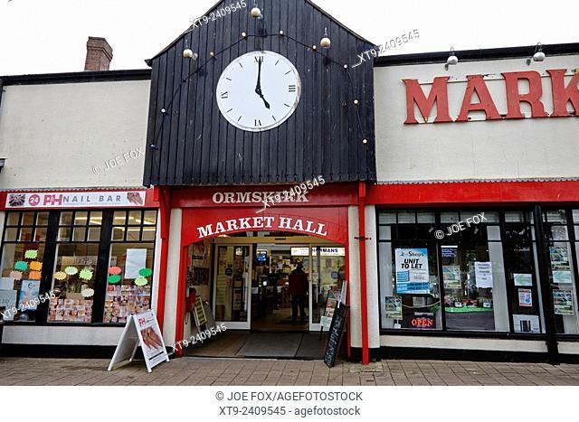ormskirk market hall lancashire england uk