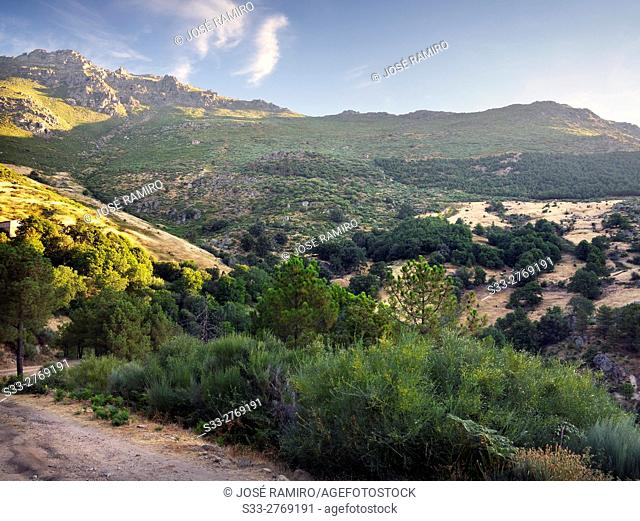 Mijares pass in the Sierra de Gredos. Avila. Castilla Leon. Spain. Europe