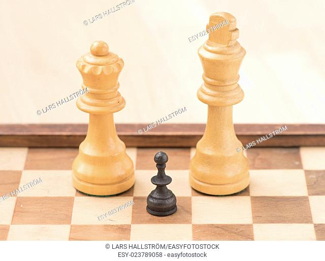 Chess game and pieces. Concept image of business strategy, planning and winning