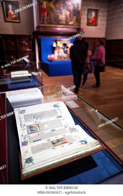 Belgium, Antwerp, Museum Plantin-Moretus, museum at the world's first industrial printing works, 16th century printed books