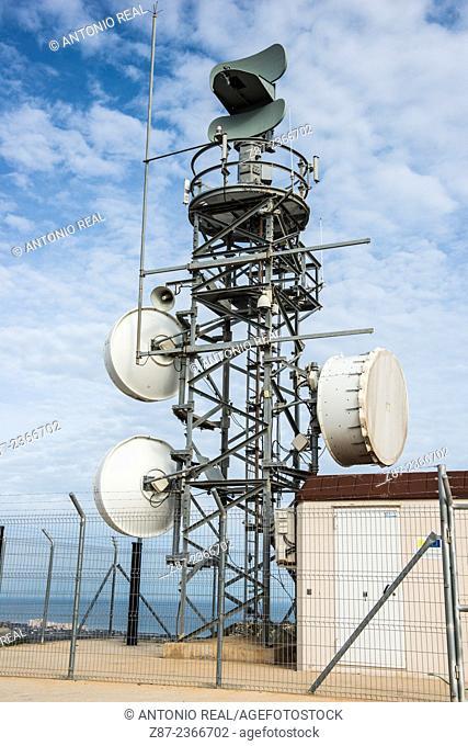 Antena in weaher station, Cullera, Valencia province, Comunidad Valenciana, Spain