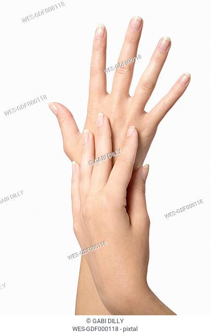 Human hands, close up