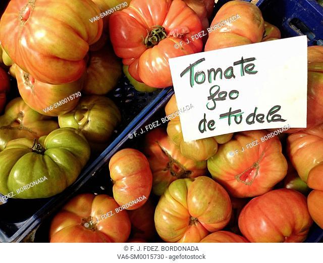 Vegetables market in Tudela, Navarre, Spain