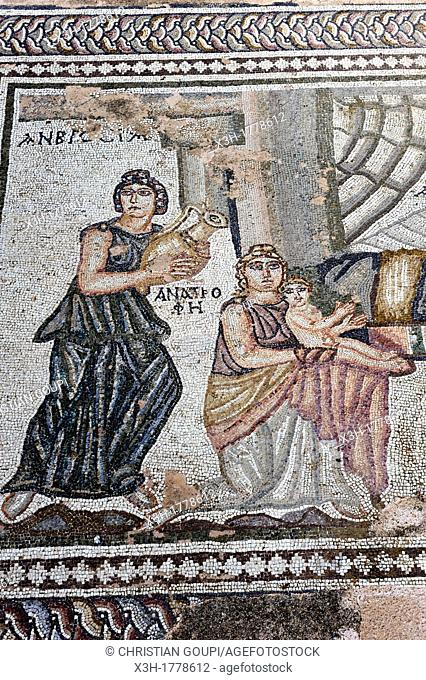 mosaics of the House of Thesee, Paphos, Cyprus, Eastern Mediterranean Sea island, Eurasia
