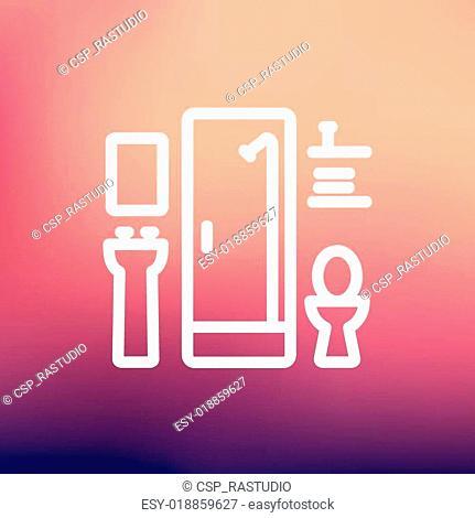Bathroom thin line icon