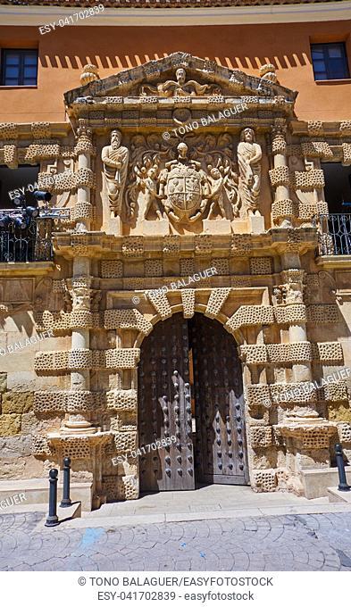 Almansa La Asuncion church in Albacete of Spain at Castile La Mancha province