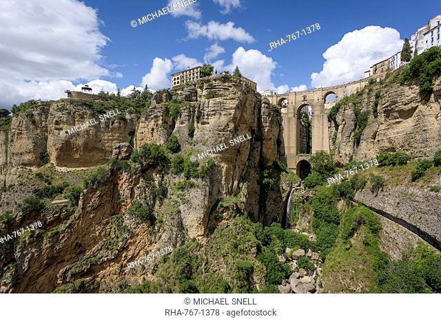 Puente Nuevo in Ronda, province of Malaga, Andalusia, Spain, Europe