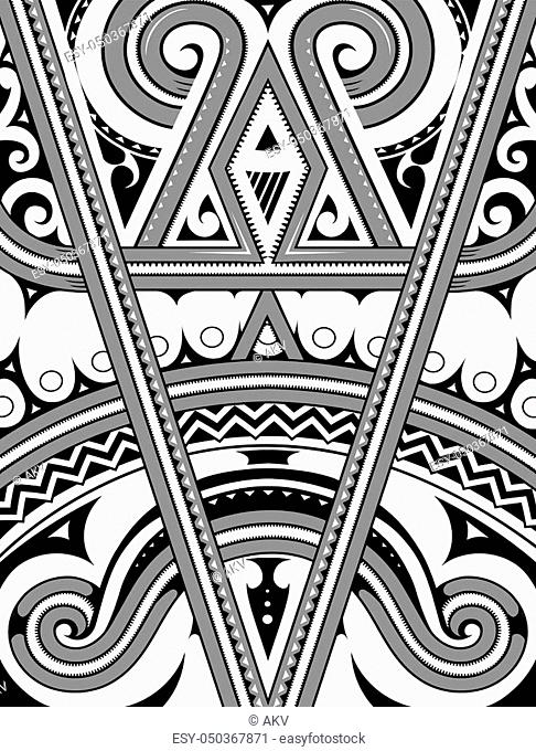 Polynesian ethnic style ornament. Good for T-shirt print designs