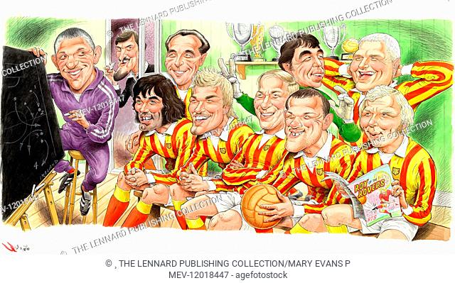 Gary Lineker, Jimmy Hill, George Best, Stanley Matthews, David Beckham, Bobby Charlton, Gordon Banks, Wayne Rooney, Paul Gascoigne, Bobby Moore - Football