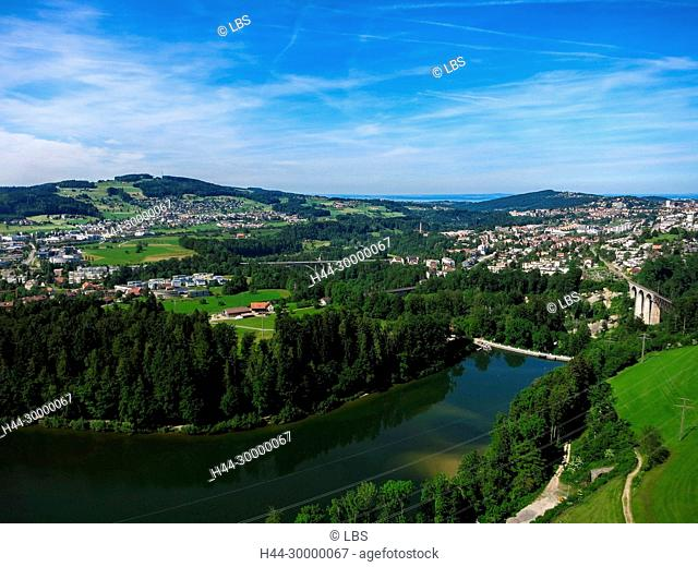 Luftaufnahme Gübsensee St. Gallen