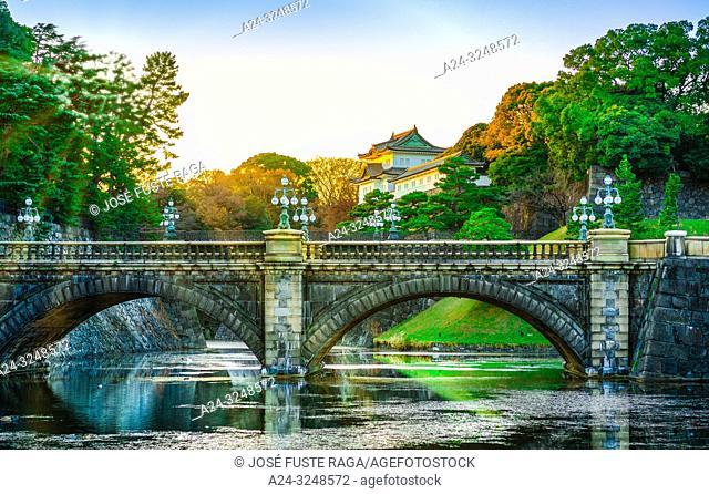 Japan, Tokyo City, The Imperial Palace, Nijubashi