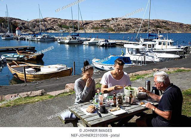 Meal at sea