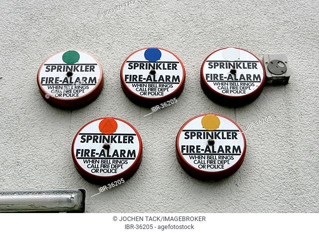 DEU, Germany, Berlin: Fire Alarm bells, Sprinkler Alarm, at an office building