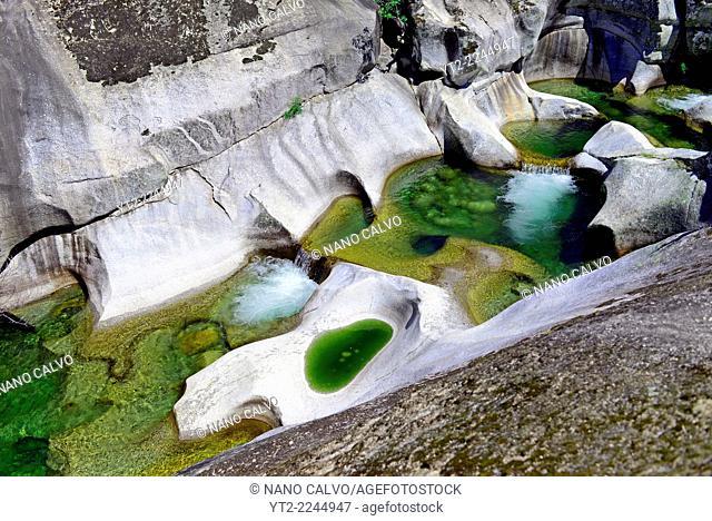 Jerte River pools (Los Pilones del Jerte) in Hell's Throat (La Garganta del Infierno), Caceres, Spain