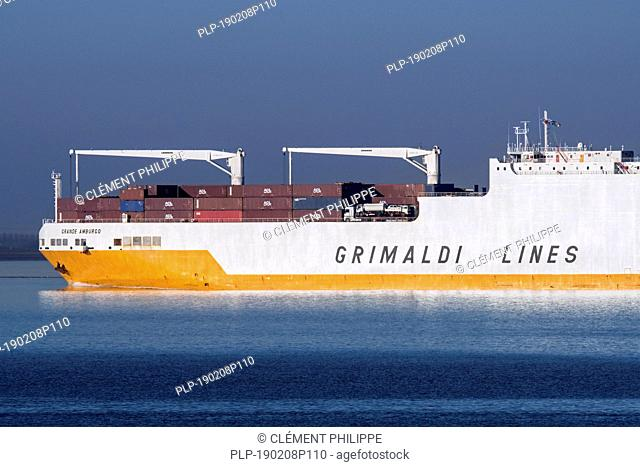 Grande Amburgo, ro-ro cargo ship from Italian cargo and ferry company Grimaldi Lines