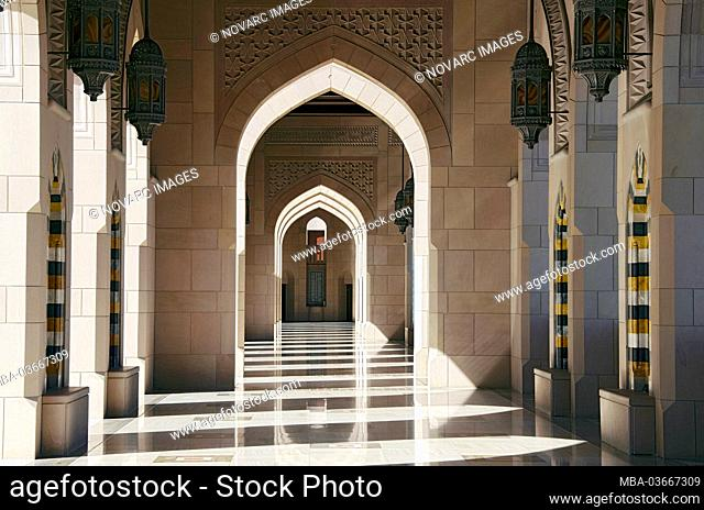 Great Sultan Qaboos Mosque in Muscat, Oman