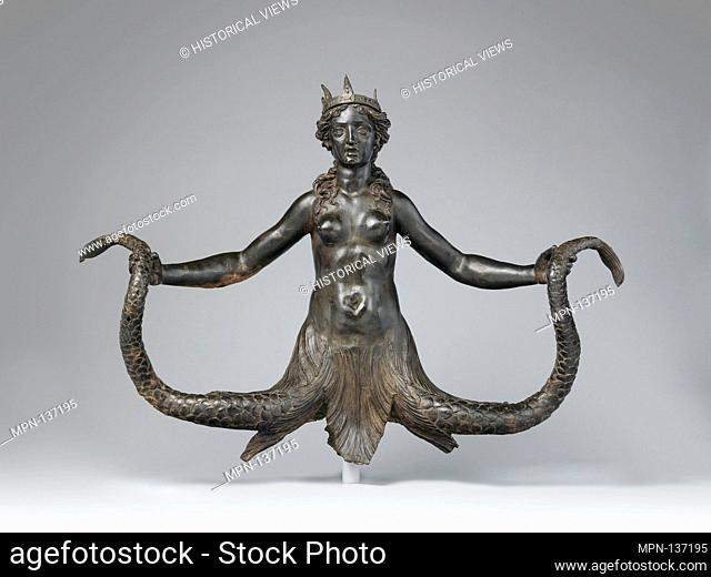 Siren. Patron: possibly commissioned by the Colonna family, Rome; Date: ca. 1571-90; Culture: Italian, Rome; Medium: Bronze; Dimensions: Overall (confirmed): H