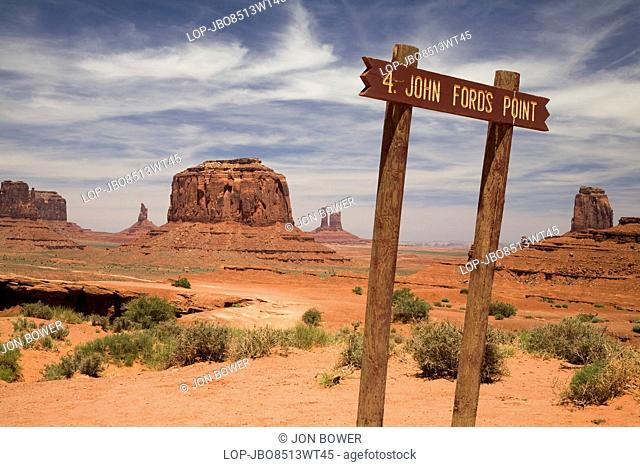 USA, Utah, Monument Valley. A view toward the buttes of Monument Valley