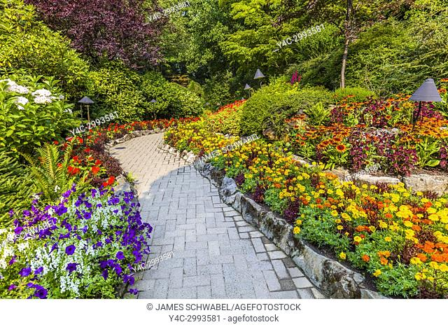 Butchart Gardens in Victoria, British Columbia, Canada a National Historic Site of Canada