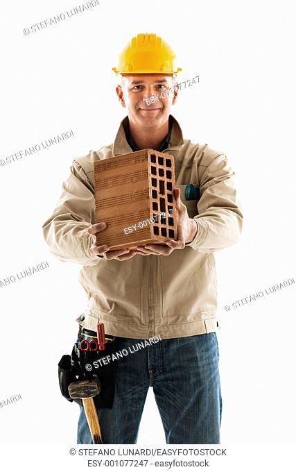 Portrait of a construction worker, close-up