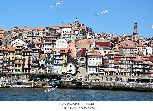 View of Porto from Vila Nova de Gaia in Portugal