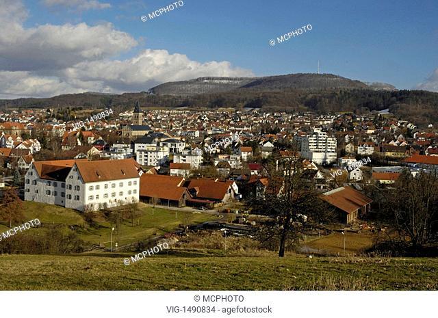 Wasseralfingen mit Braunenberg, Ostalbkreis, Baden-Württemberg, Germany, Germany - Wasseralfingen, Baden-Württemberg / Ostalbkreis, Germany / Germany