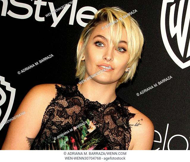 InStyle & Warner Bros. Pictures Golden Globe After Party 2017 held at the Beverly Hilton Hotel - Arrivals Featuring: Paris Jackson Where: Los Angeles