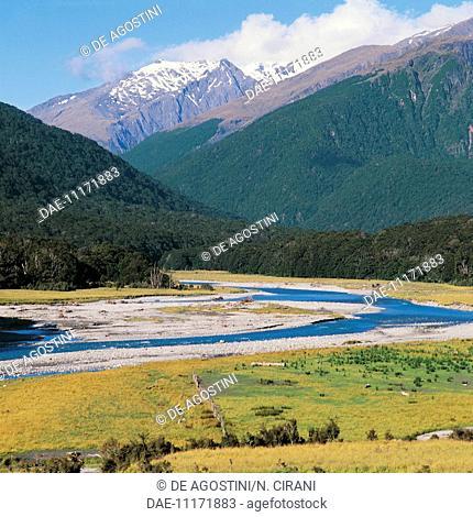 Makarora River, South Island, New Zealand