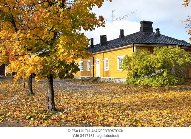 autumn scenery in Lappeenranta Fortress, Finland