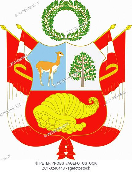 National coat of arms of the Republic of Peru