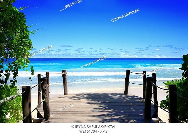 Beau Vallon Beach, Island Mahé, Indian Ocean, Republic of Seychelles
