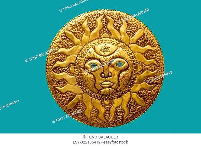 golden sun handcraft from Mediterranean isolated