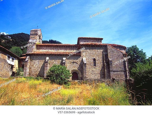Romanesque church. Piasca, Cantabria, Spain