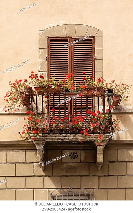 An old window in Siena, Tuscany, Italy