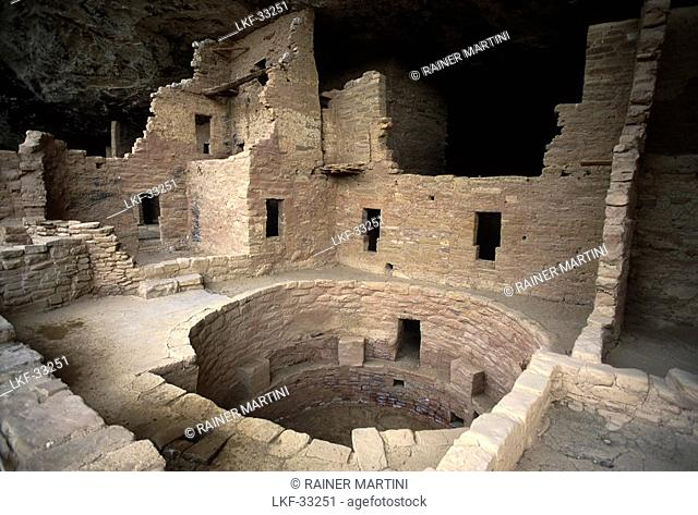 Cave homes, Mesa Verde National Park, Colorado USA